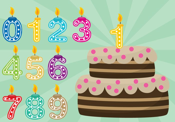 Birthday Cake With Numbers – Download Free Vector Art, Stock Graphics & Images