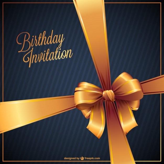 Birthday invitation free vector
