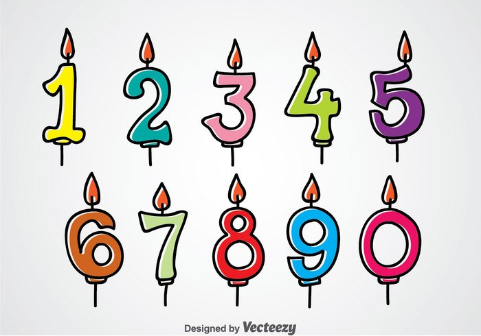 Birthday Number Candles – Download Free Vector Art, Stock Graphics & Images