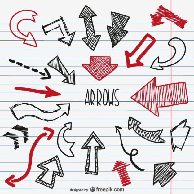 Black and red sketchy arrows  Vector   Free Download