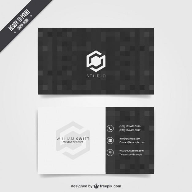 Black business card  Vector | Free Download