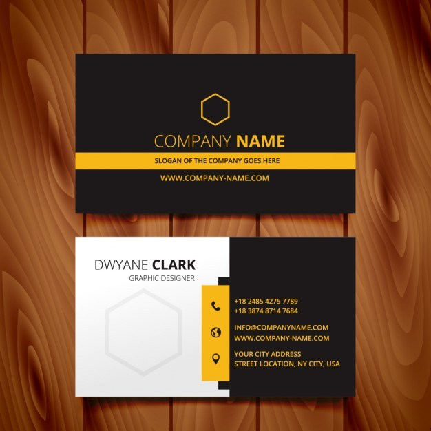 black dark business card modern design  Vector | Free Download