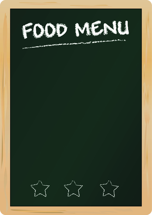 black Menu vector background 04