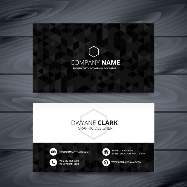 Black polygonal business card  Vector | Free Download