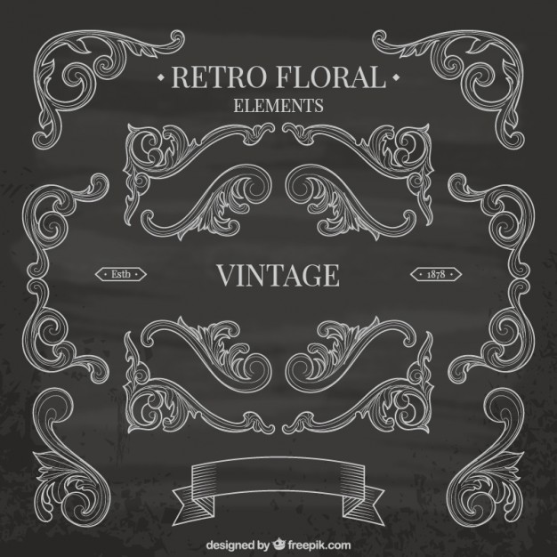 Blackboard anniversary graphic elements  Vector | Free Download