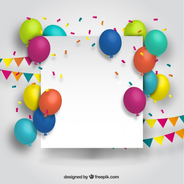 Blank banner with colorful balloons  Vector | Free Download