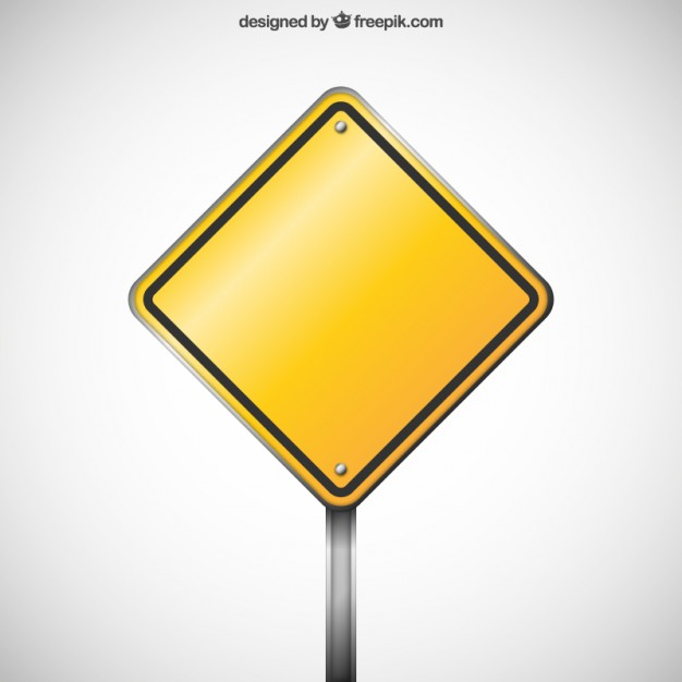 Blank warning road sign  Vector | Free Download