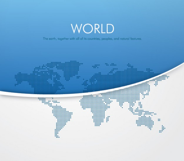 Blue and white world vector  Vector | Free Download