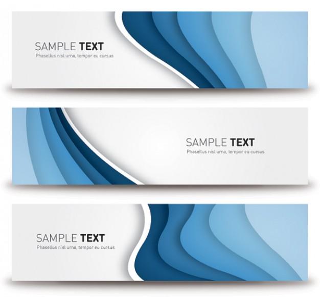 Blue banners modern elegant design