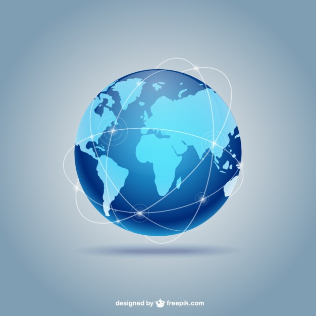 Blue globe  Vector | Free Download