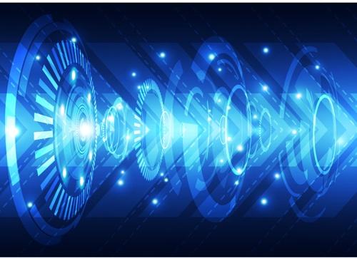 Blue tech futuristic background vector 15