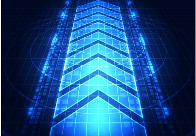 Blue tech futuristic background vector 12