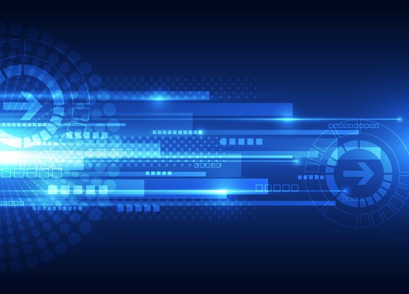 Blue tech futuristic background vector 11