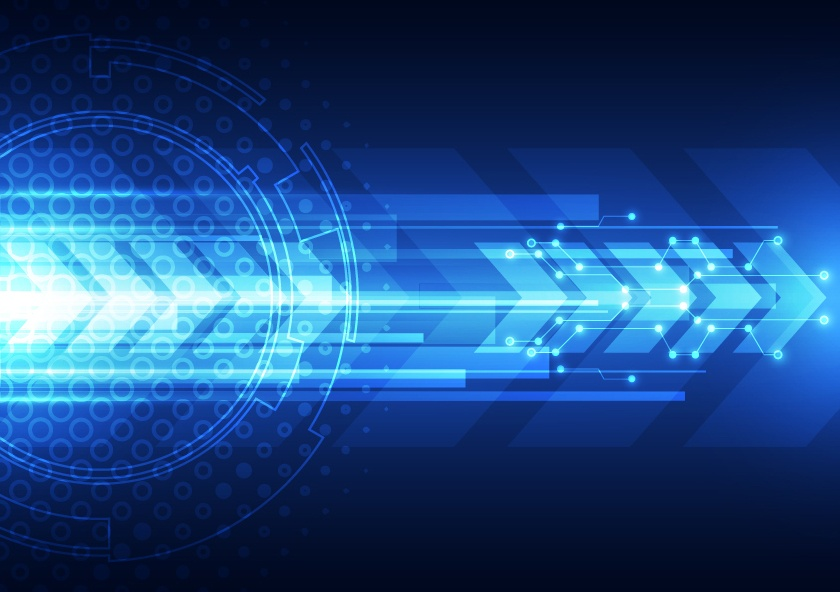 Blue tech futuristic background vector 05
