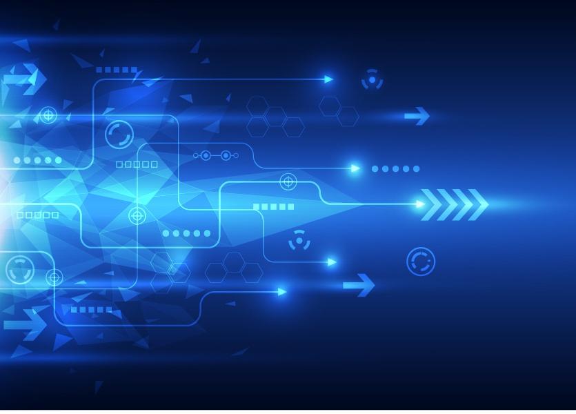 Blue tech futuristic background vector 04