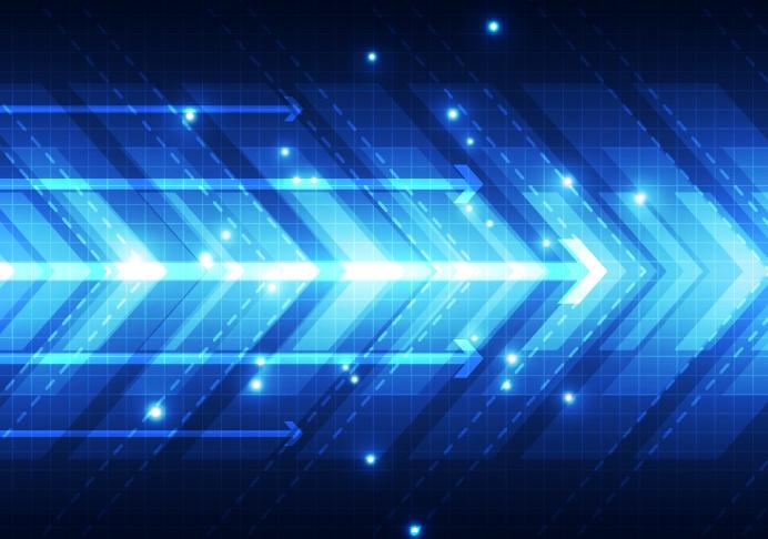 Blue tech futuristic background vector 03