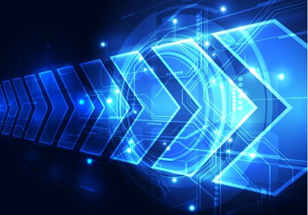 Blue tech futuristic background vector 01
