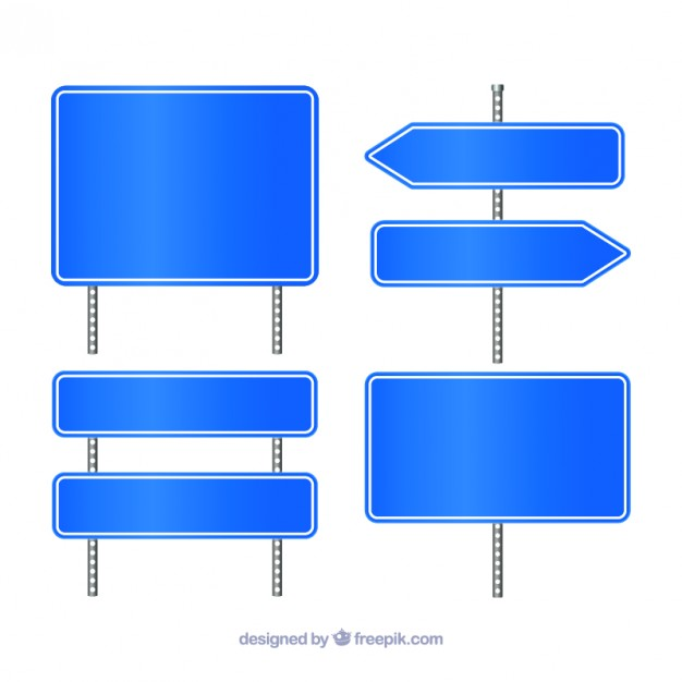 Blue traffic signs  Vector | Free Download