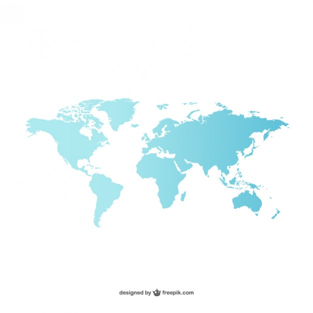 Blue world map  Vector | Free Download