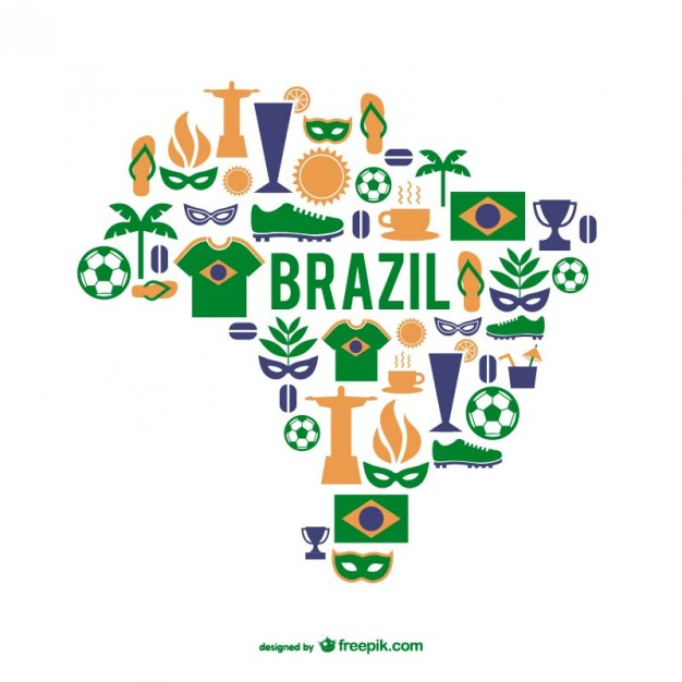 Brazil graphic elements vector map   Vector | Free Download