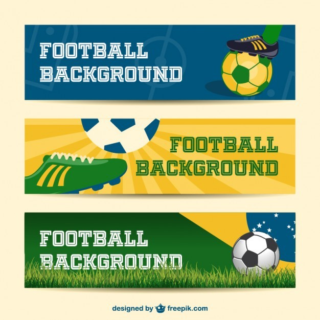 Brazil vector banners collection 2014 soccer event  Vector | Free Download