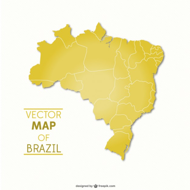 Brazil vector map   Vector | Free Download