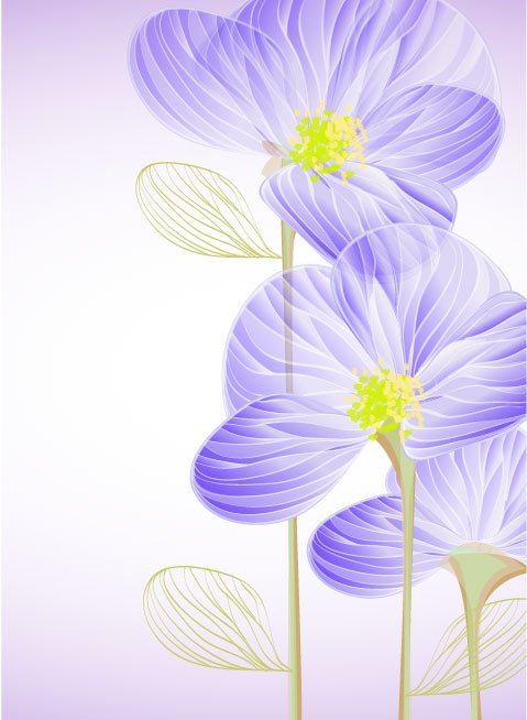 Bright with Flowers free vector 01