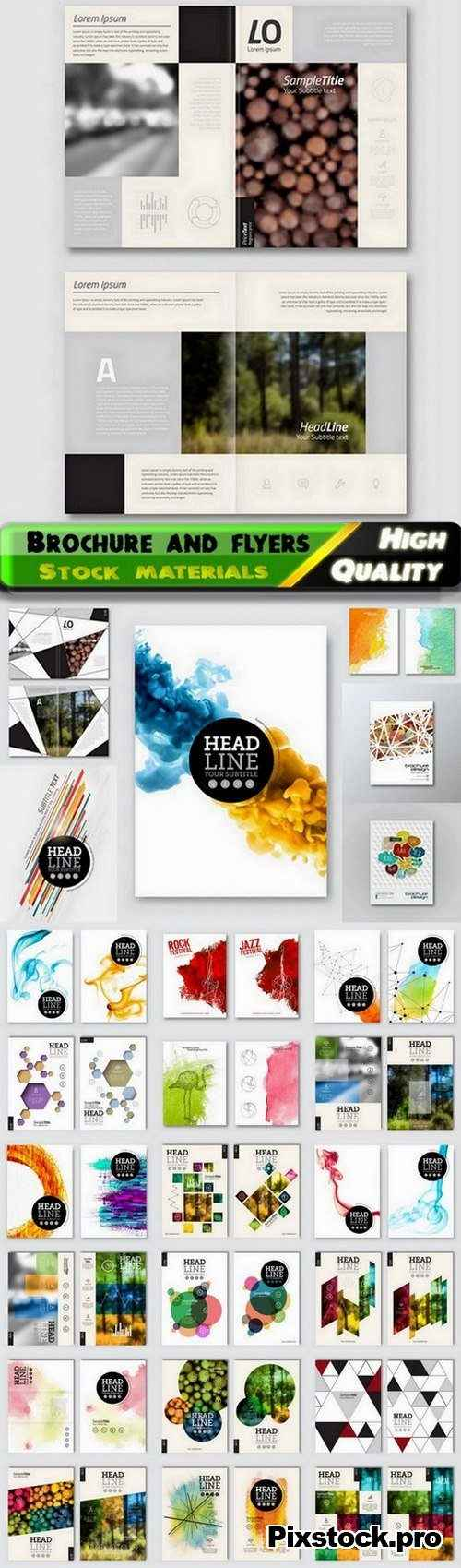 Brochure and flyers template design in vector from stock #69 – 25 Eps