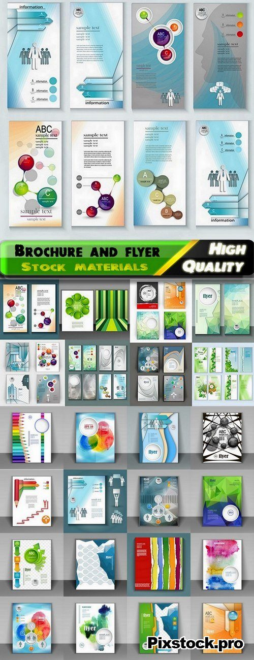 Brochure and flyers template design in vector from stock #68 – 25 Eps