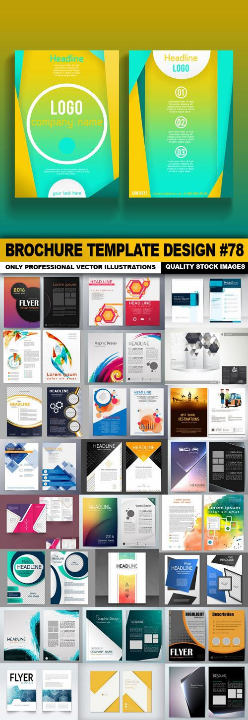 Brochure Template Design #78 – 25 Vector