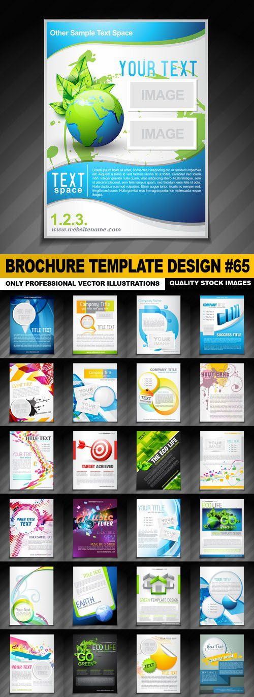 Brochure Template Design #65 – 25 Vector