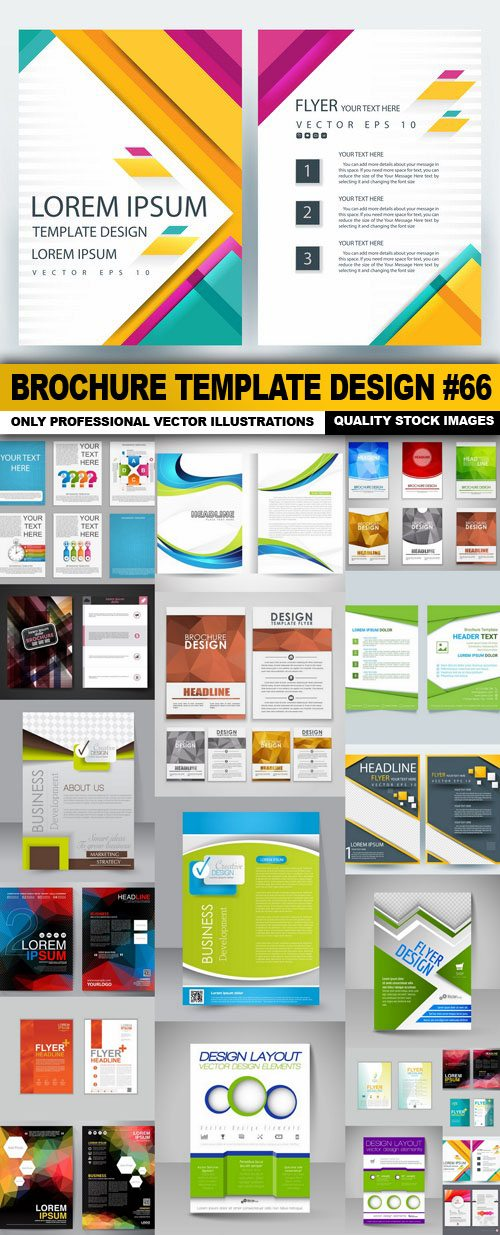 Brochure Template Design #66 – 20 Vector
