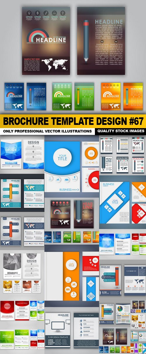 Brochure Template Design #67 – 20 Vector