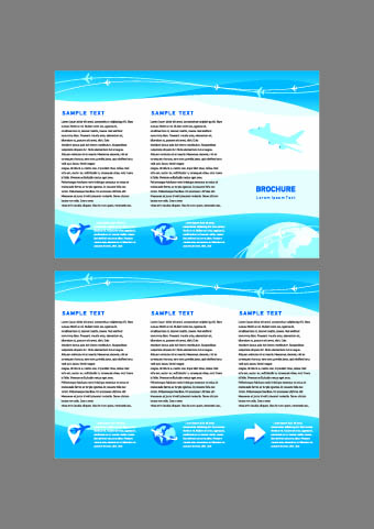 Brochures and flyers abstract cover vector 02