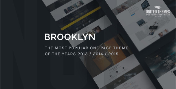 Brooklyn – Creative One Page Multi-Purpose Theme – WordPress