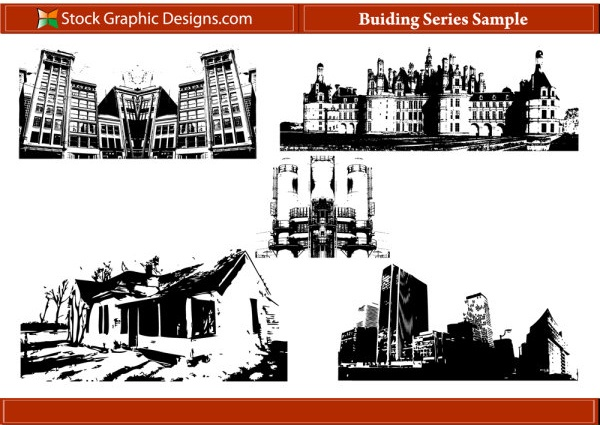 building series Silhouettes + Photoshop Brush d