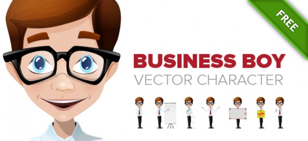 business boy vector character