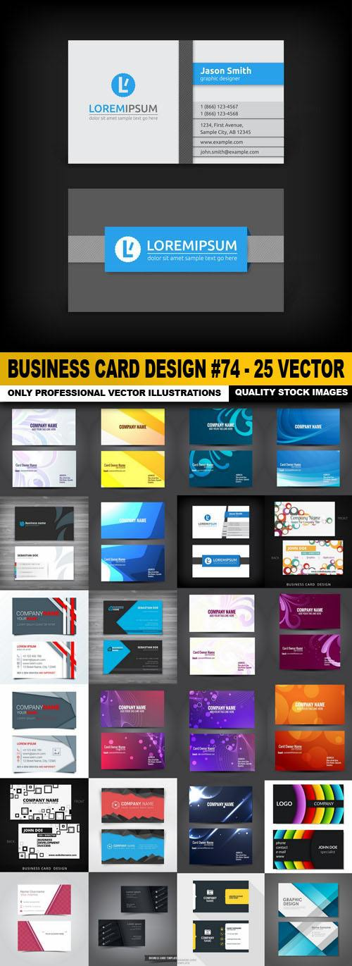 Business Card Design #74 – 25 Vector