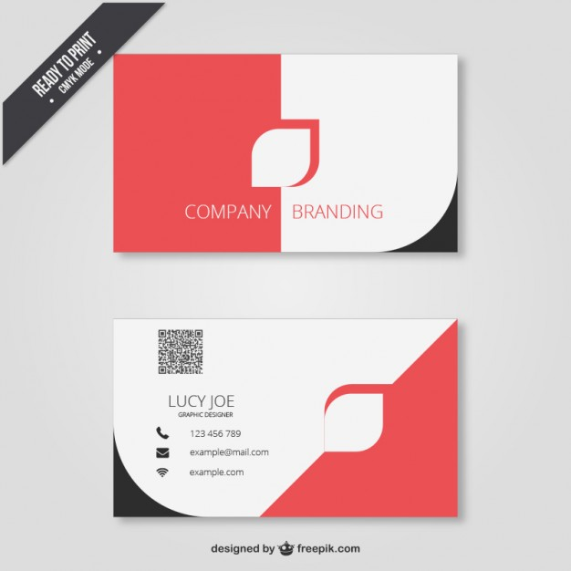 Business card in modern design  Vector | Free Download