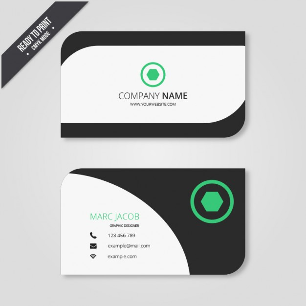 Business card in modern style  Vector | Free Download