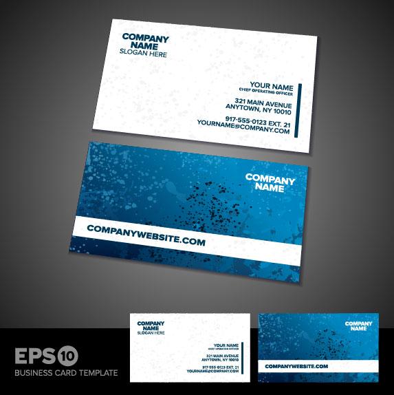 Business card templates vector 01