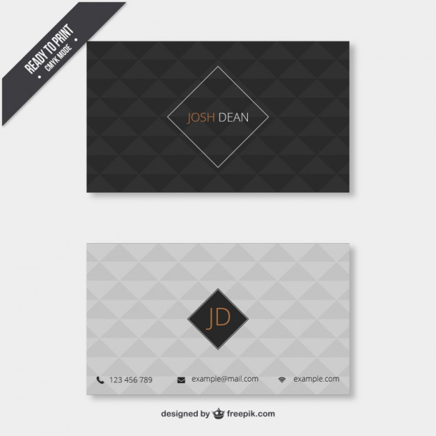 Business card with geometrical pattern  Vector | Free Download
