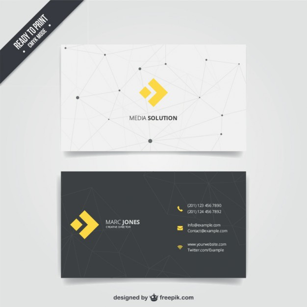 Business card with modern design  Vector | Free Download