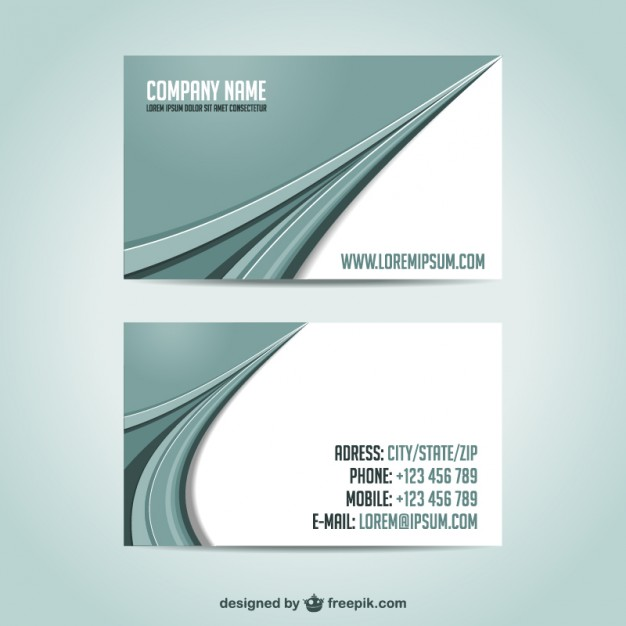 Business cards template free downoad   Vector | Free Download