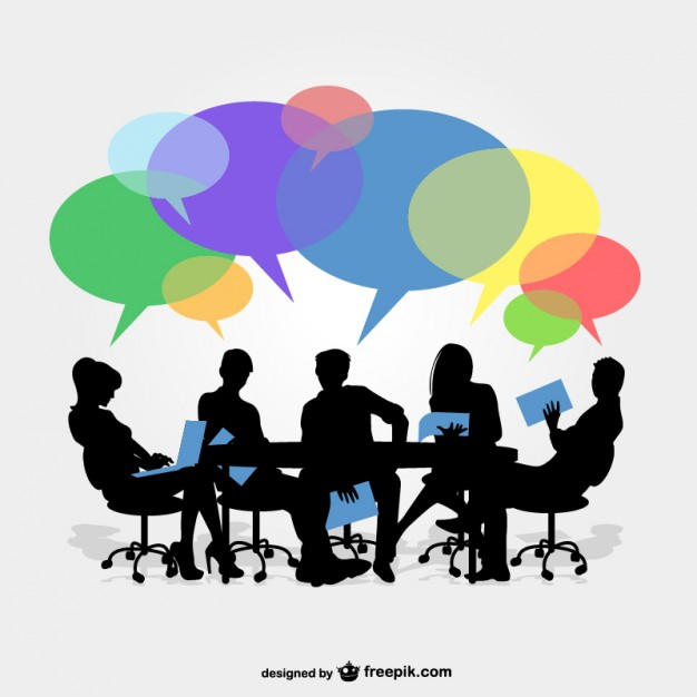 Business group meeting vector