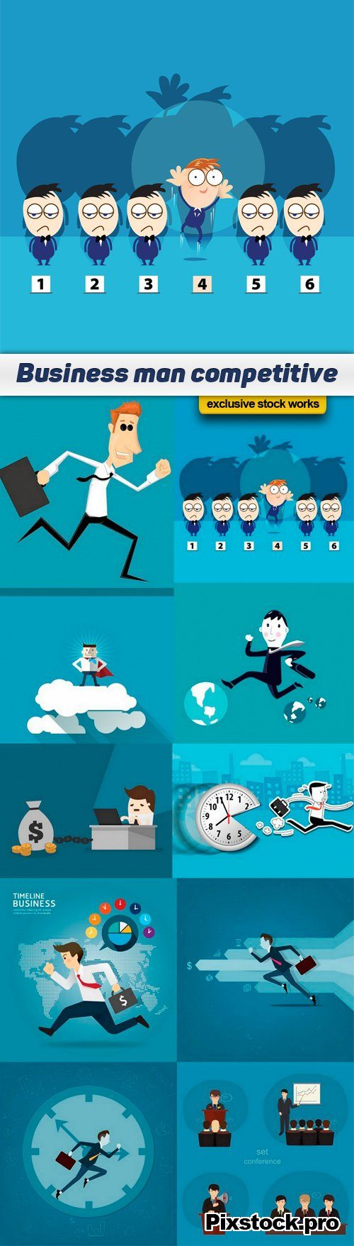 Business man competitive – 10 EPS