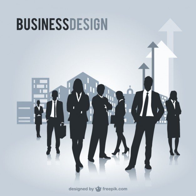 Business people silhouettes free graphics