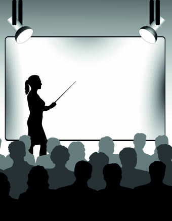 business presentation vector Silhouettes 02