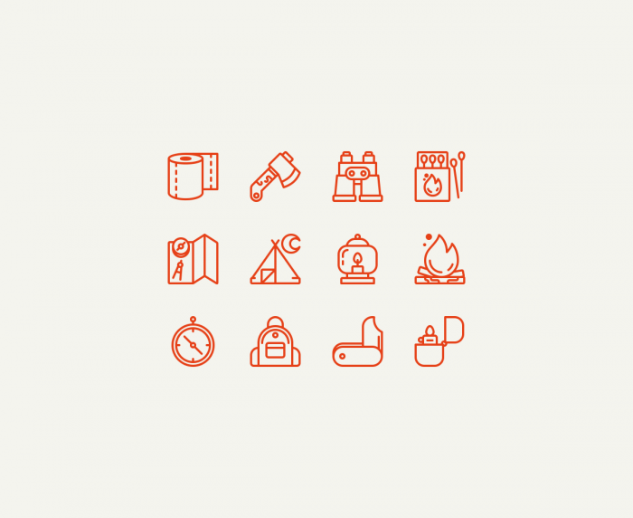 Camping Icons | IconStore