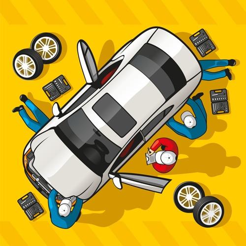 Car diagnostic business template vector design 01